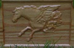 Embossed Pegasus Close-up