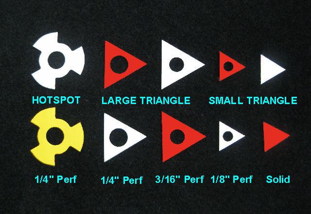 catseye templates center spots
